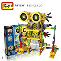 Wholesale LOZ Robotic Building Set Block Toy Battery Motor Operated Design Alien Primate Robot Figure for kids and adults Sturdy Enough
