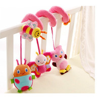Wholesale Sozzy animals around lathe bed hang Safety mirrors BB device ring paper teeth glue take pull shock baby toy