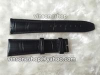 Gros-22mm / 18mm Extra Long Noir Véritable italienne en cuir veau Bracelet montre fermoir Pour IWC Pilot Portugais