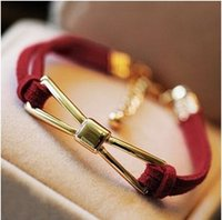 Wholesale 2015 Fashion Lovely Bow Jewelry Women Bracelets Bangles E4R7C
