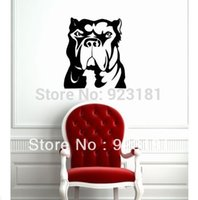american bulldog dog - ome Decor Wall Sticker Dog Pet Animal Bulldog Pitbull Wall Art Sticker Decal Home DIY Decoration Wall Mural Removable Bedroom Decor Wall