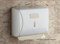 Wholesale Z Fold Hand Towel Dispenser plastic tissue holder toilet facility washroom necessary wall mounted paper holder