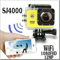 Wholesale SJ4000 Waterproof Sport DV HD Camera Car DVR Camcorder Gopro Style P fps MP H Inch LCD With wifi Free DHL Shipping JBD SW