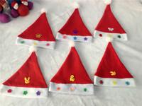 Wholesale 20Pcs Children s Ordinary Red Christmas Hats Santa Hats For Children Party Supplies cm