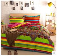brand bedding sets - Turkish striped comforter bedding sets queen size duvet cover bedspread bed in a bag brand bedclothes sheet bedsheets quilt linen bedsheet d