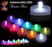 Wholesale LED underwater light emitting waterproof candle light romantic atmosphere