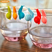 wine accessories - 6pcs set Cute Snails Wine Glass Laber Silicone Cup Markers Set Drinking Label Wine Glasses Marker Creative Party Accessories