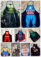 Wholesale 50pcs Apron Star Wars Top apron Boba fett Wonder women Anime Cartoon Character Series Kitchen Apron Funny Personality Cooking Apron Darth