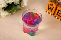 Wholesale Water Cube Creative Rainbow Refracing Colorful Acrylic Cup Whiskey Ocean Beer Mug Cups Child Classical Juice Bottle Cocktail Cups