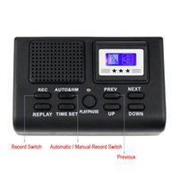 Wholesale Mini Digital Telephone Voice Recorder Phone Call Monitor With LCD Display Support SD Card Y4307
