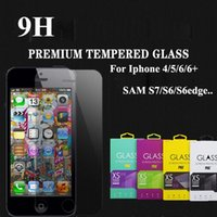 Wholesale 2 D mm Tempered Glass Screen Protector for iPhone SE s plus samsung galaxy S7 S6 edge note LG G5
