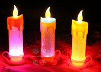 Wholesale Dual color led electronic candles Christmas decorations candle wedding cm