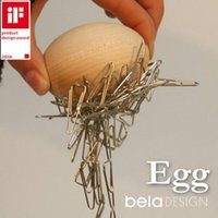 home office furniture - Beladesign IF Design Award Wood Craft Egg Wood Furniture Egg Nest Egg with Magnet Paper Clip be Used in Office and Home
