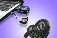 Wholesale Mini Vacuum Case USB Laptop Cooler Notebook Cooling Fan idea FYD with Blue LED Light Shipping LDNPJ0002