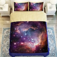 Wholesale Amazing Galaxy Starry Sky Bedding Sets Universe Meditation Nature ataraxia Bedding sets Twin Queen King Size NEW
