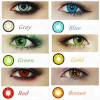 Wholesale CandyVision colors in stock Crazy Lenses Colorful Cosmetic contact lenses eye color Blood Red Eye Freeshipping