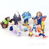 Wholesale Prettybaby set Zootopia Action Figure toys cm cartoon PVC Mini Models fox Nick bunny Judy Flash doll toy kids gift Pt0263