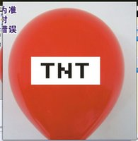 Wholesale TNT balloons with one side red color