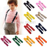 Wholesale 6Pcs Adjustable Clip on Y back Suspenders For Kids Baby Strap Pants Trousers Suspenders Adjustable And Brace Elastic Clip Belt