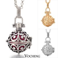 Cheap Cage Angel Ball Necklace 3 Colors Wind Chime Pendant Angel ball in Chain Necklaces (VA-024) Vocheng Jewelry