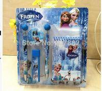 Wholesale sets Fashion Character Elsa Anna Stationery Set School Set For Girls A051