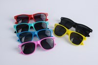 Wholesale 6 Colors fashion Children Sunglasses Stylish Cool Kids Sun glasses Plastic Frame classic Goggles for Baby Boys Girls