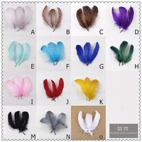 Wholesale High quality beautiful goose feather cm inches DIY color you choose Wedding centerpiece decor
