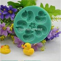 100% foodgrade silicone baby jello - Five cute little duck Baby shape silicone mold Jello Silicone Mold Bakeware Sugar Craft Cake Decorating Tools