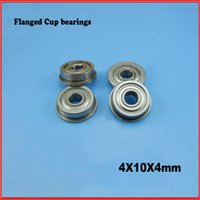 Wholesale 5PCS mm MF104ZZ flange bushing bearing ball bearings