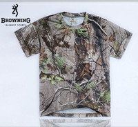 Wholesale Quick drying BROWNING APG CAMO T Shirt for Men for Hiking Camping jersey Hunting shirt and Fishing T summer hunting TEE shirts