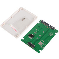 Wholesale 2 quot SATA to M NGFF SSD adapter card with mm thickness case VC803 W0 SYSR