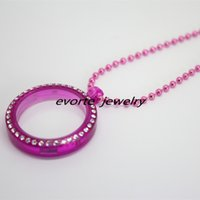 Wholesale Free Chain mm Magnetic Closure Transparent Voilet Plastic Floating Charms Living Locket With Crystals