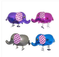 aluminum elephant - Elephant Animal Aluminum Foil Helium Balloons Walking Balloons Pet Zoo Gifts Kids Party Birthday Decoration Children Gifts