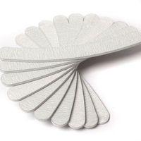 Wholesale 10 x Grey Nail Files Sanding Curve Banana for Nail Art Tips Manicure ZH223