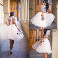 Wholesale 2016 New Bohemian Women Tutu Skirt Puffy Short Party Dresses A Line Tulle Bridesmaid Dresses Prom Gowns Jupe Saias Femininas Cocktail