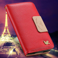 """Wholesale Lovely Iphone Wallet Cases - Candy Fly Bird Leather Filp Cover For iphone 6 6s i6 Lovely Stand Wallet Bag Card Holder With Strap Woman Case For Iphone6 4.7"""""""