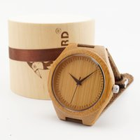 best japanese watches - New Newest japanese miyota movement wristwatches genuine leather bamboo wooden watches for men and women best gifts