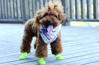 Wholesale Dog Apparel Waterproof boots Dog s Pet Shoes Style Soft and Warm Velcro Denim Boots for Dogs WY148