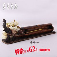 Wholesale Thai crafts handmade bamboo wooden elephant incense smoke incense box insert incense home decorations