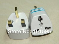 Wholesale 10pcs Universal US EU AU to UK travel power outlet AC plug adapter converter