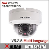dome camera - 2015 New V5 Hikvision DS CD2132F IS with Alarm Audio replace DS CD2132 I MP Mini Dome Camera P POE IP CCTV Camera