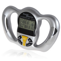 Wholesale Mini Digital LCD Handheld BMI Tester Body Fat Monitor Health Analyzer Fat Meter with Fat Levels for Reference