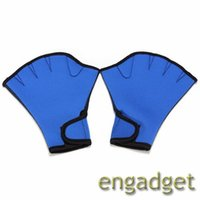 Wholesale 30Pair Fingerness Swimming Gloves Frog Webbed Gloves Fitness Training Gloves Black Blue S M L Pair in one Size required