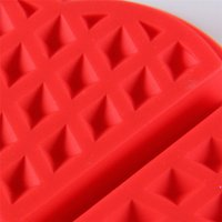 Wholesale Eco Friendly Silicone Grid Waffle Mold Biscuit Pans Cookie Muffin Bakeware Cooking Kitchen Tools