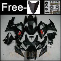 Wholesale GSXR600 GSXR750 Matt Black ABS fairings for SUZUKI GSXR GSX R750 Matte Black ABS fairngs B3685