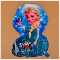 Wholesale Frozen Cartoon Aluminum Balloon Decoration Frozen Princess Queen Anna Elsa Balloon for Kids Party cartoom helium ballons