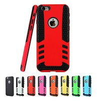 Wholesale 2 in Hybrid rugged soft TPU PC case hard slim shockproof Rocket cover cases for Iphone plus Samsung Galaxy Note S5