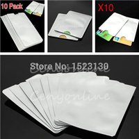 business cards - 10pcs RFID Blocking ID Credit Card Protector Passport Protector holder Secure Aluminum Sleeve order lt no track
