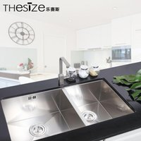 Wholesale THESIZE music Seth stainless steel hand basin sink dual slot audience imported special offer thick