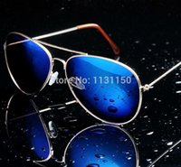 hot pink butterfly - Hot new men aviator sunglasses designer blue mirror sun glasses for men and women sports glasses night vision goggles